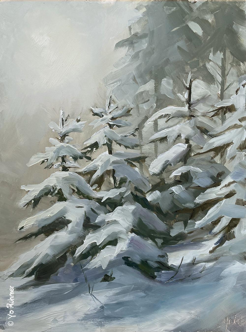 Schnee_Tannen_gemalt