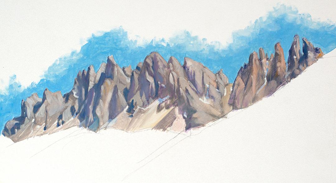 Dolomitne Pleinairmalerei