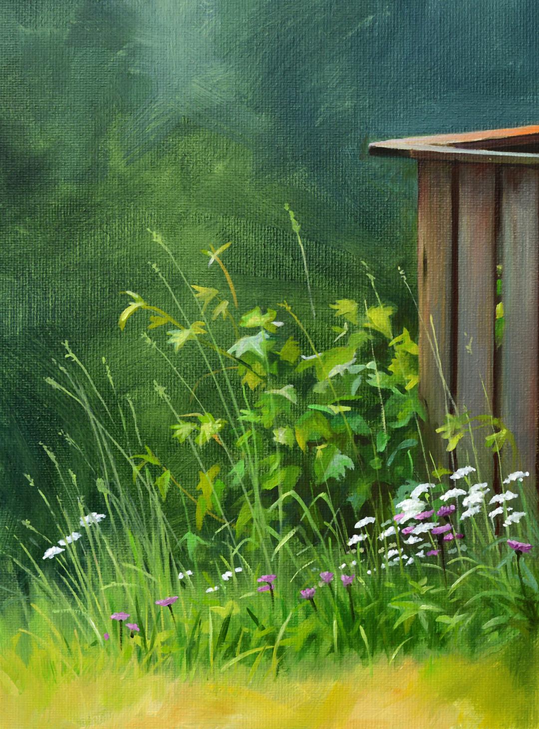 Blumen Pleinairmalerei