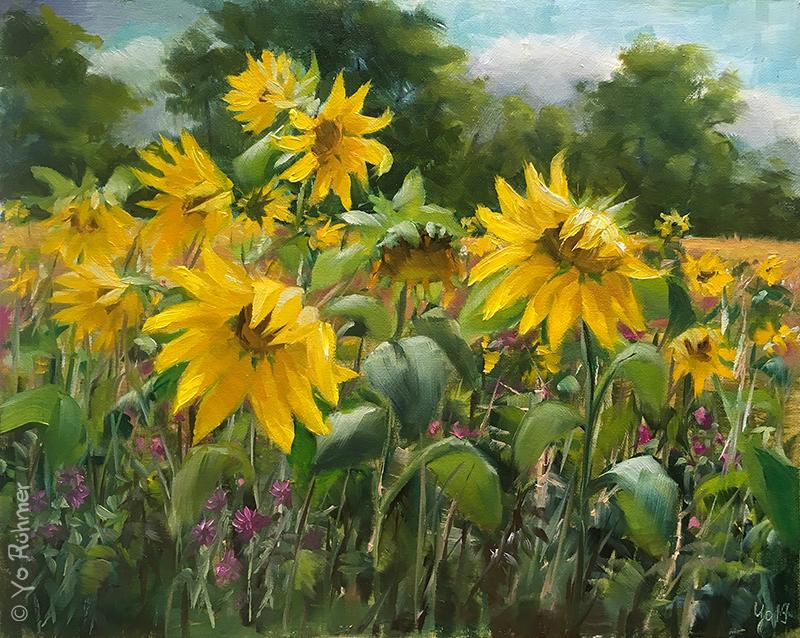 sonnenblumen pleinairmalerei