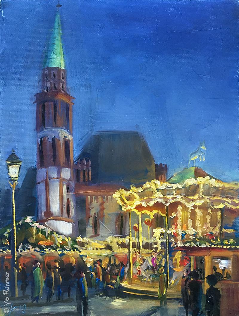 Weihnachstmarkt Ölbild