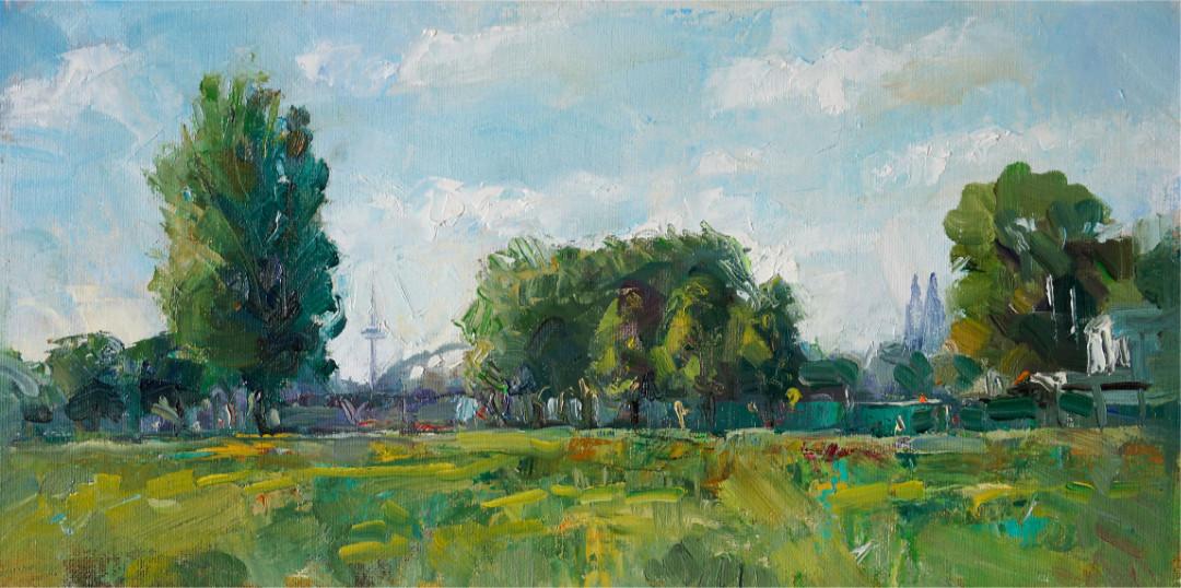 Blick von Mühlheim Pleinairmalerei