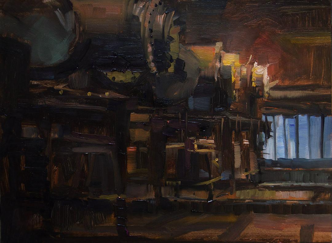 Öfen, Völklinger Hütte Pleinairmalerei
