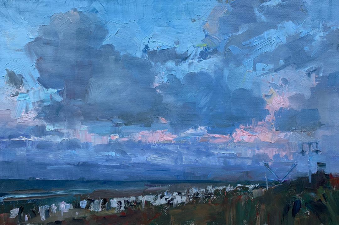 Ostwolken, Wangerooge Pleinairmalerei
