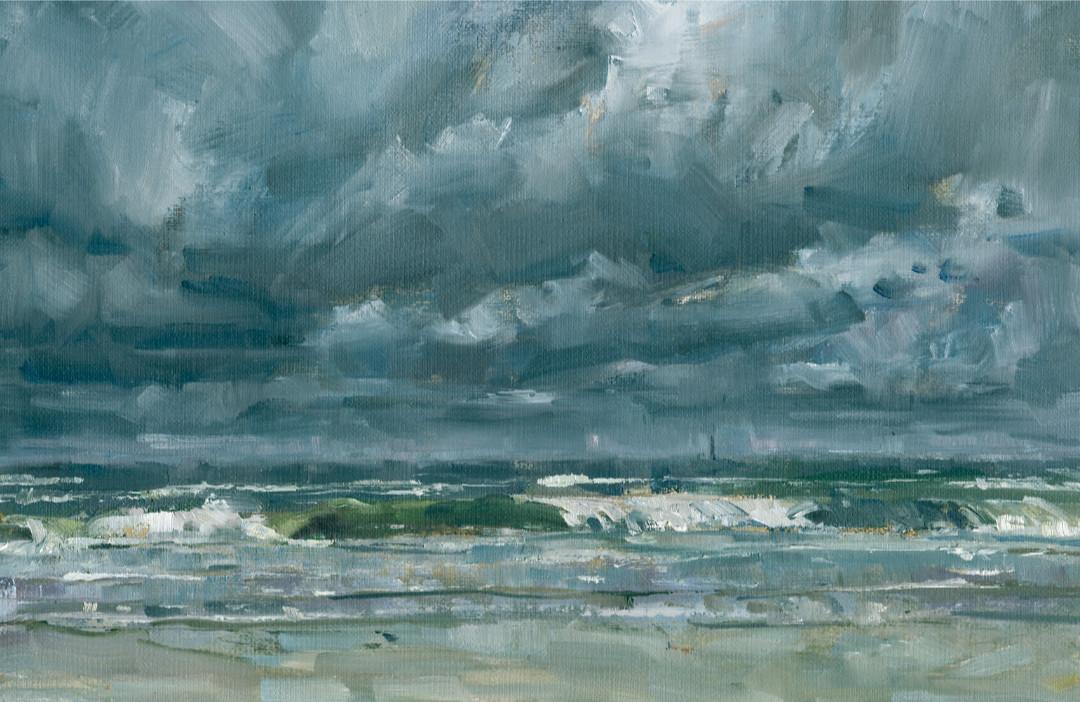 Sturmwellen 1, Wangerooge Pleinairmalerei